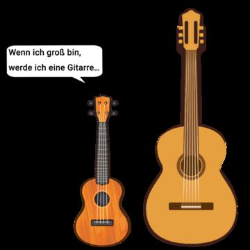 Ukulele und Gitarre