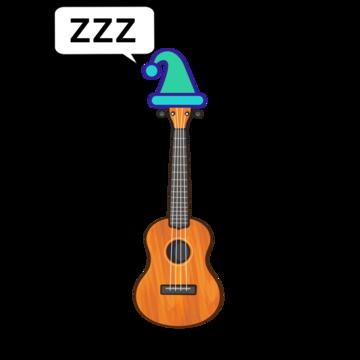schlafende Ukulele
